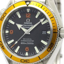 Omega Polished Omega Seamaster Planet Ocean Steel Automatic...