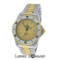 TAG Heuer Mens  2000 Ref. 974.006 Steel 18K Yellow Gold Date 38mm
