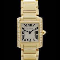 Cartier Tank Francaise Lady Ref.: 2385 - 18 Karat Gelbgold/Dia...