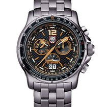 Luminox Mens F-35 Lightning II Chronograph - Black and Orange...