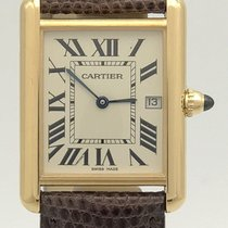 Cartier Tank Louis 18j Rose Gold Quartz 25.5mm Watch On...