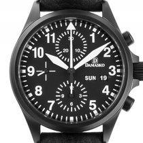 Damasko DC56 Stahl PVD Black Automatik Chronograph Armband...