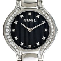Ebel Beluga Mini Steel & Diamond Womens Watch Black Dial...