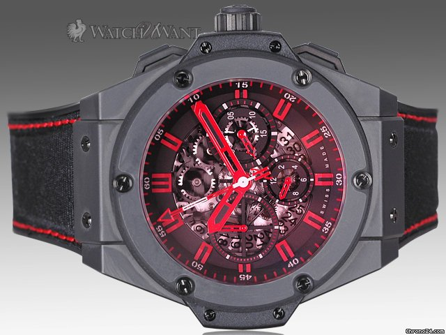 Hublot Big Bang King Power Chronograph - Congo Special Edition Only 100 Pieces - Skeleton Dial &amp;amp; Red Crystal - 48mm Black Ceramic - Brand New In Box