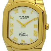 Rolex Cellini 18k Yellow Gold White Dial 29mm Circa 1991 Ref....