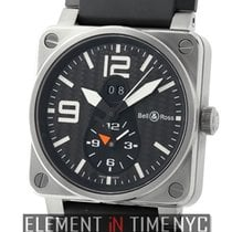 Bell & Ross Aviation GMT Titanium 42mm Black Carbon Fiber...