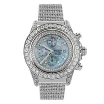 Breitling Super Avenger ICED OUT with 29 ct. of Diamonds A13370