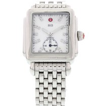 Michele Ladies Michele Deco 16 Diamond Dial Stainless Steel...