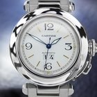 Cartier Pasha Automatic Stainless Steel Big Date Luxury Watch...