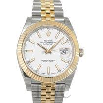 Rolex Datejust 41 White/18k gold jubilee 41mm - 126333