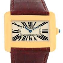 Cartier Tank Divan Large 18k Yellow Gold Watch W6300556