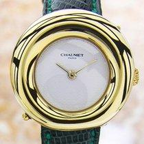 Chaumet Paris 750-A1040 Quartz 18K Gold Luxurious c2000 Ladies...
