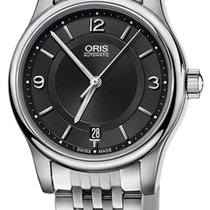 Oris Classic Date Automatic Steel Mens Watch Black Dial Date...