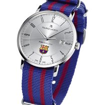 Maurice Lacroix FC Barcelona Eliros Date in Steel with Silver...