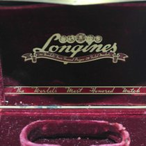Longines Vintage Metal Watch Box Presentation and papers rare