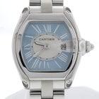 Cartier Roadster Ladies Sky Blue Dial 30MM SS Watch W62053V3