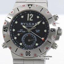 Bulgari Diagono Scuba GMT 3 Time Zone SD38SGMT Box Papers...