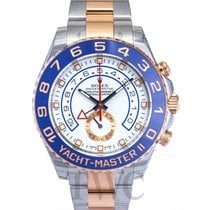 Rolex Yacht-Master II White/18k rose gold Ø44 mm  - 116681