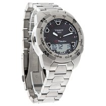 Tissot T-Touch Expert Mens Titanium Blk Dial Watch T013.420.44...
