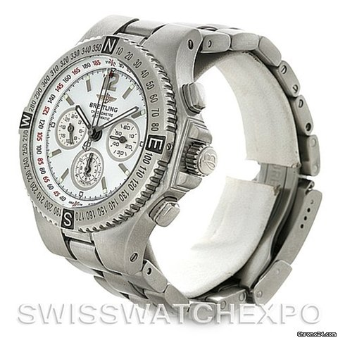 Breitling Hercules Mens Chronograph Steel Watch