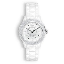 Dior CHRISTIAN DIOR VIII WHITE CERAMIC FULL DIAMONDS WATCH