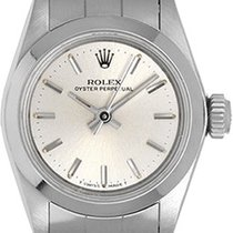 Rolex Ladies Oyster Perpetual No-Date Stainless Steel Watch 67180