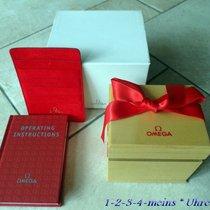 Omega Holz Uhrenbox  Ledermappe & Buch  neu & unbenutzt