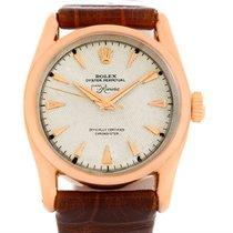 Rolex 18k Rose Gold Bombe Lugs Vintage Watch 6090