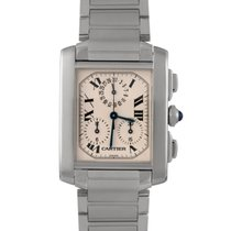 Cartier Tank Francaise Chronograph Gents in Stainless Steel