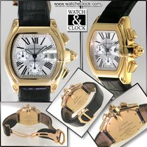 Cartier 18k Yellow Gold Silver Dial Roadster XL Chronograph