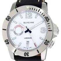 Glycine Lagunare Automatic L1000 Steel Mens Divers Watch White...
