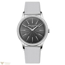 Patek Philippe Calatrava Grey Dial White Gold and Diamonds...