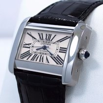 Cartier Tank Divan Large W6300755 / 2612 Steel Automatic Watch...