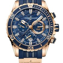 Ulysse Nardin Diver Chronograph 18K Rose Gold Men's Watch