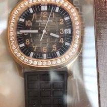Patek Philippe Aquanaut Luce Ladies Rose Gold Brown Dial...