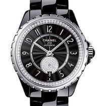 Chanel h3840 J12 Automatic in Black Ceramic with Diamond Bezel...