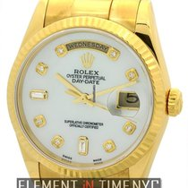 Rolex Day-Date President 18k Yellow Gold MOP Diamond Dial Ref....