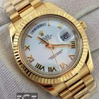 Rolex Day Date II 18k Yellow Gold President White Roman Numeral
