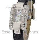 Chopard La Strada with Partial Diamond Case - White Gold on Strap