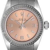 Rolex Ladies Rolex Oyster Perpetual Watch 76094 Salmon Dial