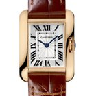 Cartier Tank Anglaise Silver Dial 18K Solid Rose Gold