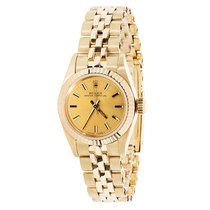 Rolex Vintage 1980s Oyster Perpetual 14K Gold