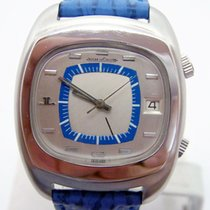 Jaeger-LeCoultre S/Steel MEMOVOX Alarm Automatic Watch E871...
