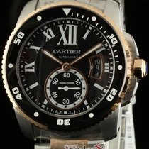 Cartier New Calibre W7100054 Steel Rose Gold Black Dial...