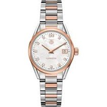 TAG Heuer Carrera Lady Diamond gold/stahl, 32 mm, WAR1352.BD0779