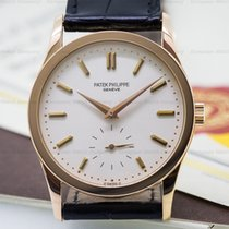 Patek Philippe Calatrava Manual Wind 18K Rose Gold / Silver Dial