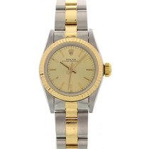 Rolex Ladies Rolex Oyster Perpetual 18K YG & S/S 67193 W/...