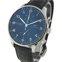 IWC IW371447 Portuguese Chrono Automatic in Steel - on Black...