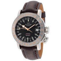 Glycine Airman 18 World Timer Purist Black Dial Men's Watch