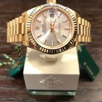 "Rolex Datejust 28 Yellowgold ""Silver-Index"" 279178"
